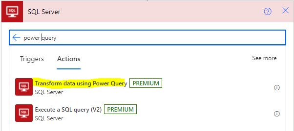 Power Query Power Automate 1